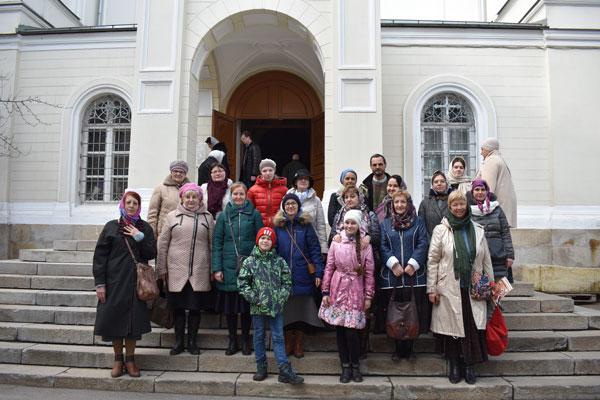 31марта 2019 паломническая поездка в Иоанно-Предтеченский монастырь учащихся воскресной школы и прихожан храма в Аксиньино