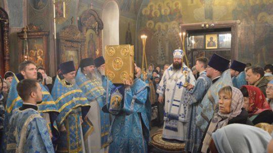 Управляющий Северным викариатством епископ Сергиево-Посадский Парамон возглавил богослужение в храме  иконы Божией Матери «Знамение» в Аксиньино
