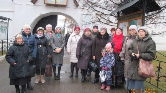 Паломничество взрослой группы воскресной школы храма в Аксиньино в Новоспасский монастырь