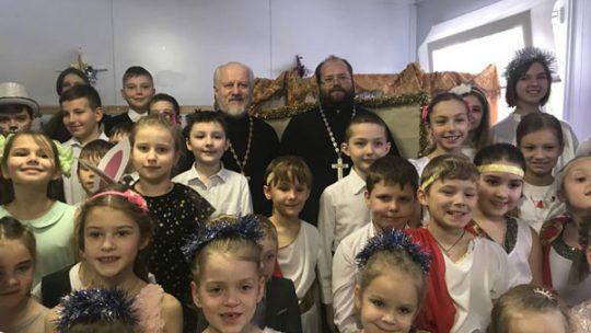 Рождественский концерт в Воскресной школе храма в Аксиньино.