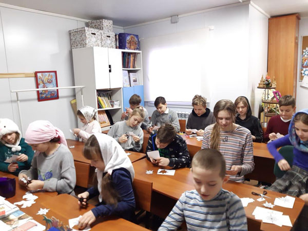 События декабря 2019 в Воскресной школе храма в Аксиньино