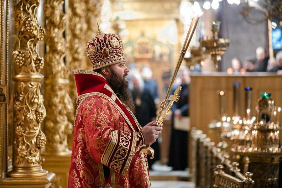 Поздравление епископу Парамону с днём тезоименитства